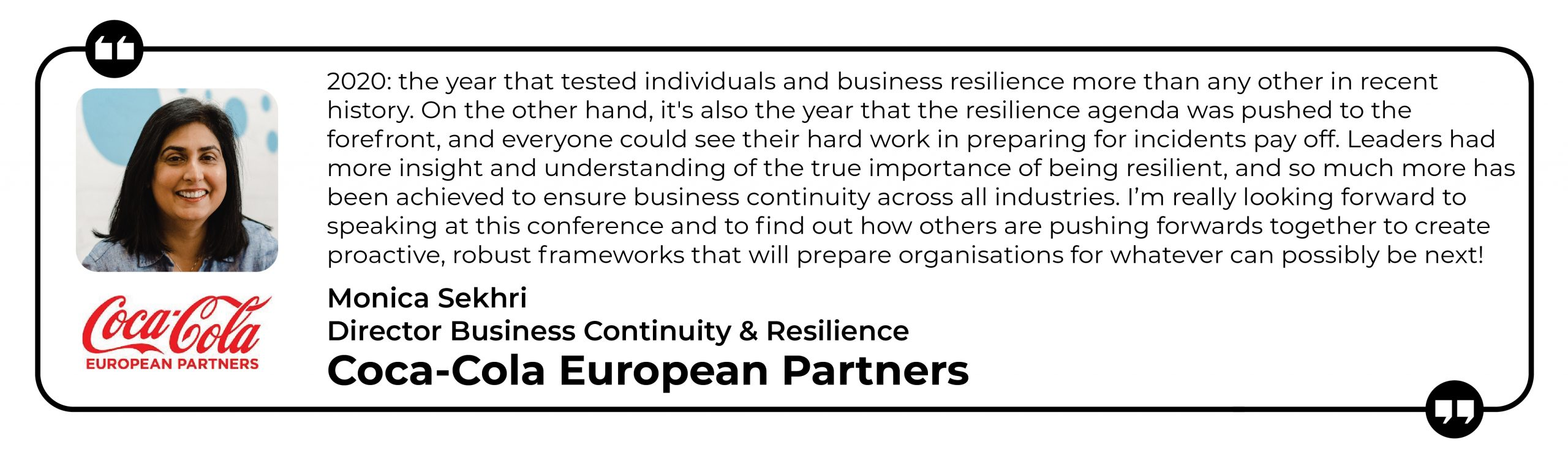 Business Resilience - Speaker Quote